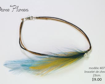 Bracelet feathers ankle