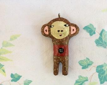 Paper Mache Monkey Ornament