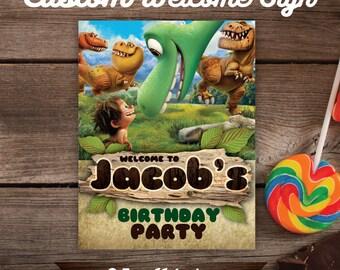 Good Dinosaur Welcome Sign, Good Dinosaur Custom Welcome Sign, DIY, Printable, Good Dinosaur Birthday, Good Dinosaur Party