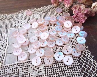 Pearl Buttons  Vintage Buttons Pink  Buttons  Lot ~ Scrapbooking May include pink , baby pink  etc. buttons
