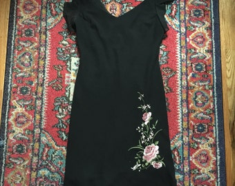 1990's Embroidered Dress