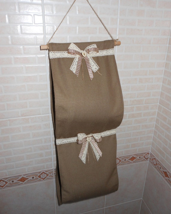 Porta rotolo di carta igienica in tessuto fatto a mano - Albero porta carta igienica ...