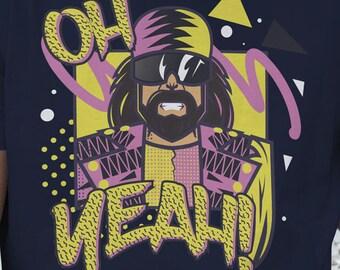 Randy Savage Wrestling WWE T-Shirt - Oh Yeah!