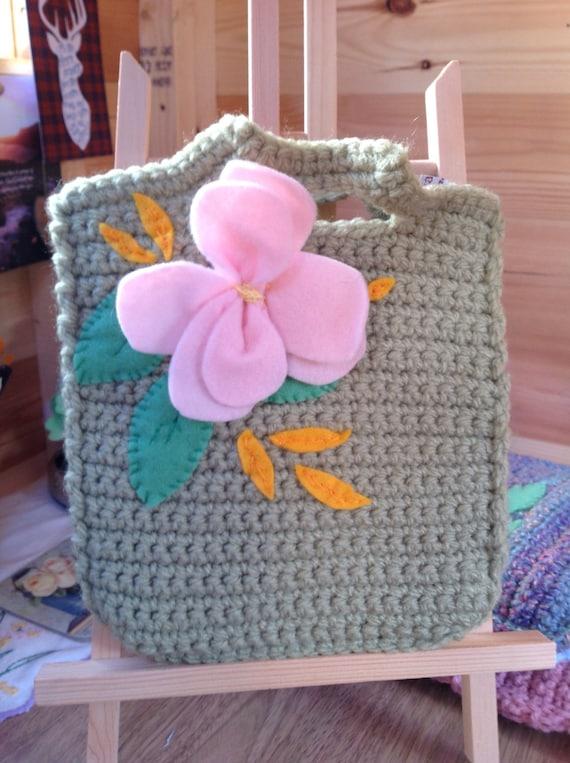 Little girl's crochet bag.