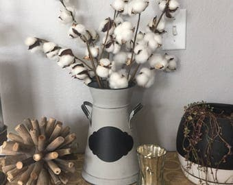 "13"", 20"" or 27"" Cotton Stem, Faux Farmhouse Cotton Stem, Cotton Bolls"