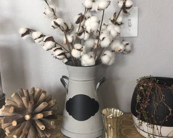 "20"" or 27"" Cotton Stem, Faux Farmhouse Cotton Stem, Cotton Bolls"