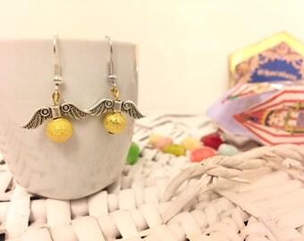 Golden Snitch Earrings - Orecchini Boccino d'Oro