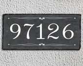Outdoor Number Sign! Slate Number Sign, Outdoor Sign, Outdoor Plaque, Weatherproof Sign, Housewarming Gift, Wedding Gift. Slate Tile