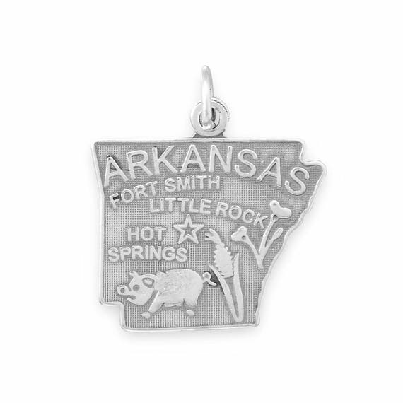 "Arkansas State Charm .925 Sterling Silver just the ""charm"""