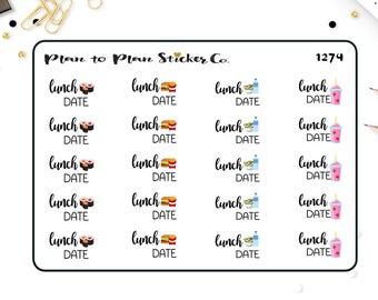 1274~~Lunch Date Planner Stickers.