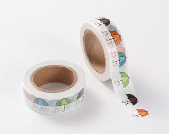 Umbrella Washi Tape - Washi Tape - Weather Washi Tape - Paper Tape - Planner Washi Tape - Washi - Decorative Tape - Deco Paper Tape