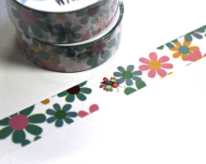 Floral Washi Tape - Washi Tape - Butterfly Washi Tape - Paper Tape - Planner Washi Tape - Washi - Decorative Tape - Deco Paper Tape