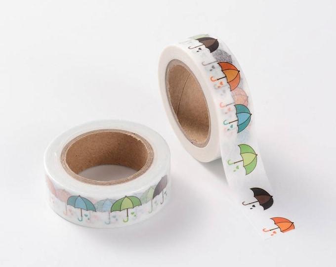 Umbrella Washi Tape - Washi Tape - Weather Washi Tape - Paper Tape - Planner Washi Tape - Washi - Decorative Tape - Deco Paper Tape