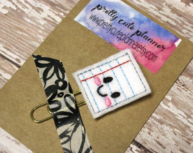 Planner Clip - Planner Bookmark - Kawaii Paper Planner clip - Paper planner clip- Felt Planner Clip - Felt Bookmark - Feltie - Paper clip