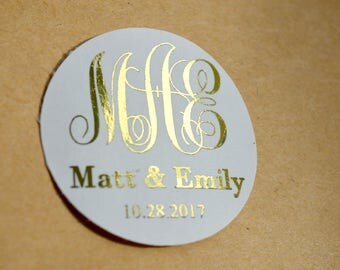 Custom Stickers Product Labels Simple Thank You Wedding Favors