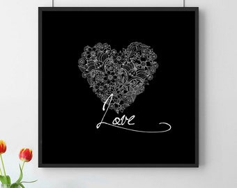 Love posters. Printable Poster. Instant Download. Wall decor. Décor. Valentine poster.