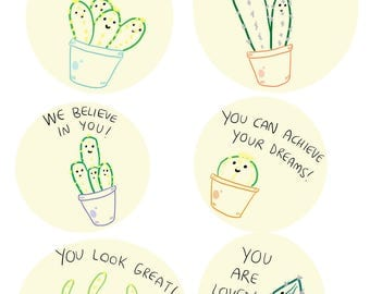 Encouraging Cacti - A4 Print