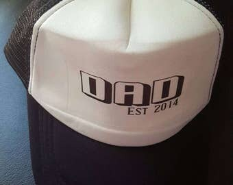 Dad est hats. Choose the year to suit your family