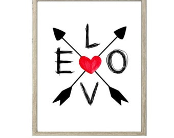 Love Printable - LOVE Arrows