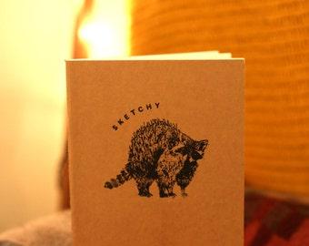 Sketchbook Notebook Sketchy Raccoon