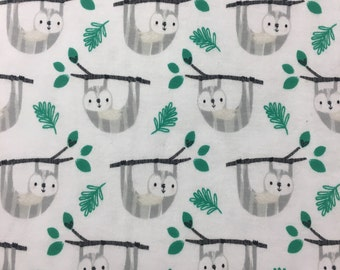 1/2 yard, interlock knit sloth fabric