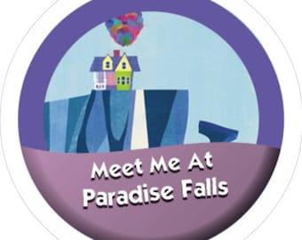Meet Me At Paradise Falls 3' Pin