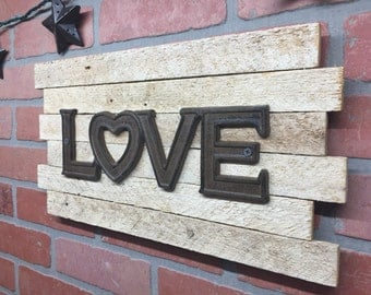 Cast iron, Love, Rustic, wall decor