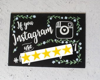 Wedding Chalkboard Sign - A4 Share the Love Instagram Sign