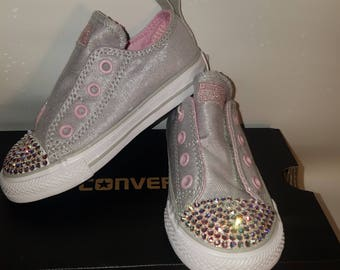 Converse All Stars with Genuine Swarovski Crystal Toes