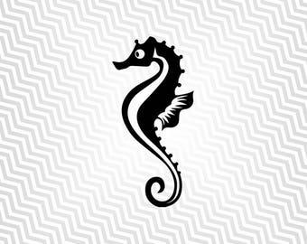 Seahorse svg, Cutout, Seahorse Silhouette, Vector art, Cricut, Silhouette Cameo, die cut, instant download, Digital Cut, Print Files, Pdf