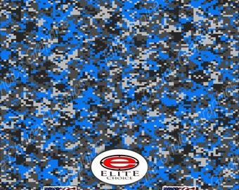 """Digital Camo Blue  2 15""""x52"""" or 24""""x52"""" Truck/Pattern Print Tree Real Camouflage Sticker Roll or Sheet"""