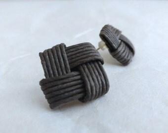 Black stud earring, stud earring black, Japanese, eco friendly, gift, birthday