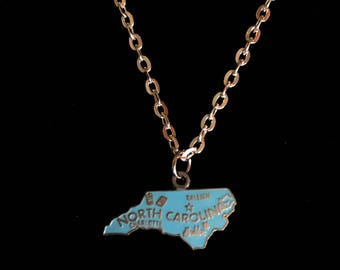 Vintage North Carolina Charm Necklace