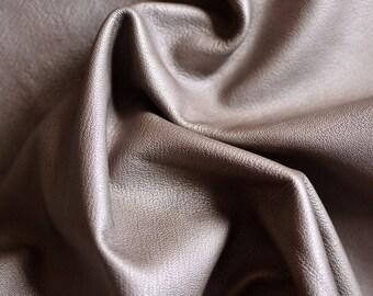 Light Brown ITALIAN Leather hide  80 X 40cm 1,4 mm Leather  Brown METALIC Leather Italian Genuine Leather b788