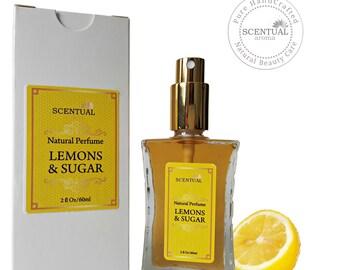 ON SALE Organic Lemons & Sugar Perfume Oil, Natural Lemon Vanilla Perfume, Vegan Perfume, Gift Idea