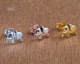 Baby elephant earrings,925 Sterling Silver