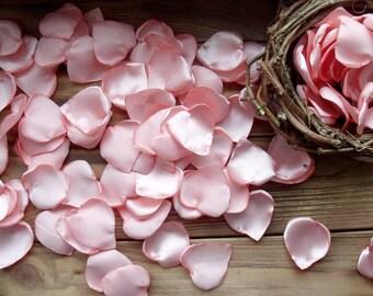 Silk petals,Pink peach petals,satin petals,Wedding Petal Decor,table decoration,Petals Handmade,Fabric Petals,Table Scatters,Peach petals