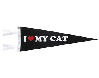 Felt Pennant - I Love My Cat