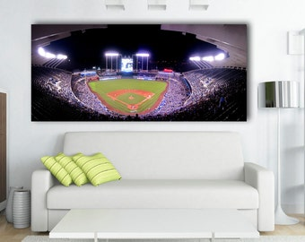 "Kansas City Royals Kaufman Stadium  Panoramic Canvas Print - 44"" x 20"" Amazing View"