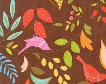 Moda Fabric - Wing Leaf - Chestnut - 10060 19 - Cotton fabric by the yard
