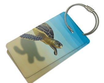 Sea Turtle Suitcase Bag Id Luggage Tag Set