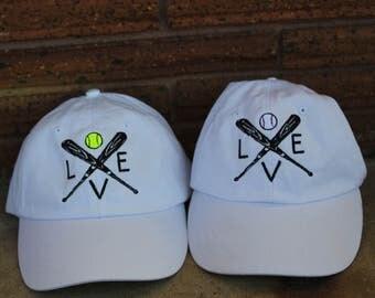 Baseball or softball LOVE cap
