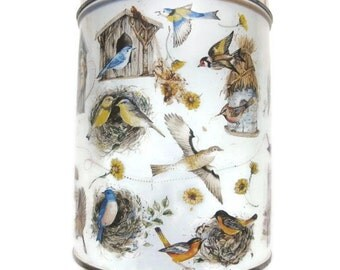 Vintage Birds Tin // Multiple Birds Tin // Vintage Tin // Birds, Birds, Birds // Beautiful Birds, Bird Houses,  535K
