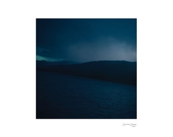 Tilt - Fine Art Photography, Colour Print, Nature, Water, Mountains, Lake