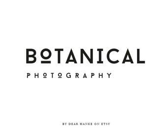 Logo design premade clean logo botanical graphic typographic luxe romantic