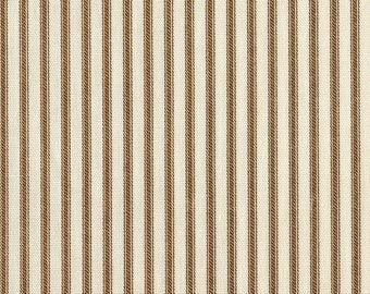 "74"" Round Tablecloth, Suede Brown Ticking Stripe"