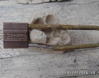 Zenith 45 Padlock Long Shackle Lock Zenith Bicycle Lock Rare Zenith Lock Vintage Padlock with Key