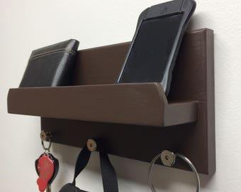Mail Organizer, Key Holder, Wall Shelf, Coat Hook, Home Decor