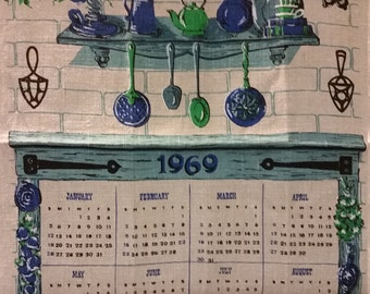 1969 Cloth Calendar