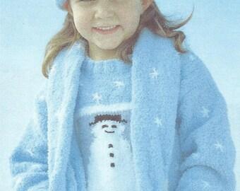 2 x Childs xmas knitting patterns plus a Free The Snowman - Charming Festive Christmas Winter Toy Knitting Pattern.